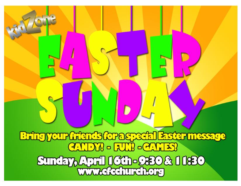 Kidzone Easter Sunday